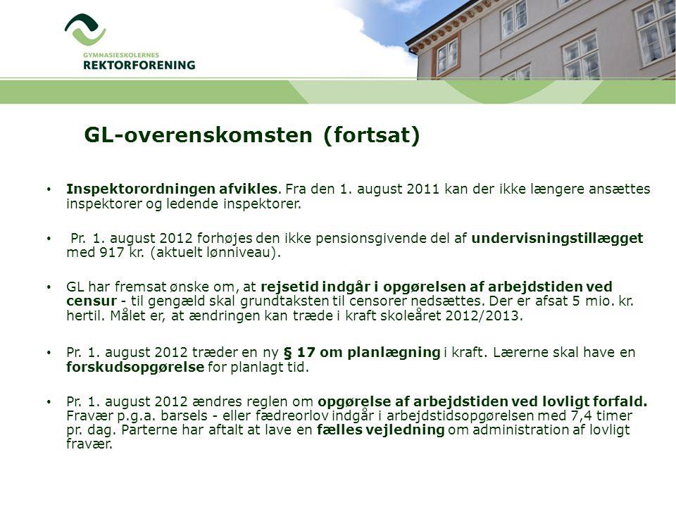GL-overenskomsten (fortsat) Inspektorordningen afvikles.