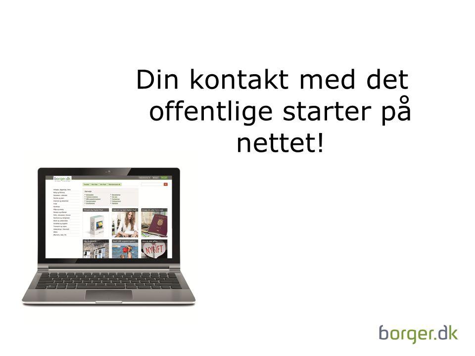 Din kontakt med det offentlige starter på nettet!