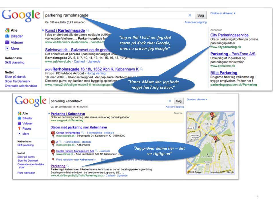 9 Jeg er lidt i tvivl om jeg skal starte på Krak eller Google, men nu prøver jeg Google Hmm.