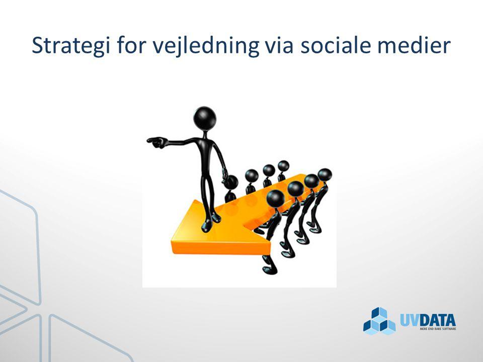 Strategi for vejledning via sociale medier