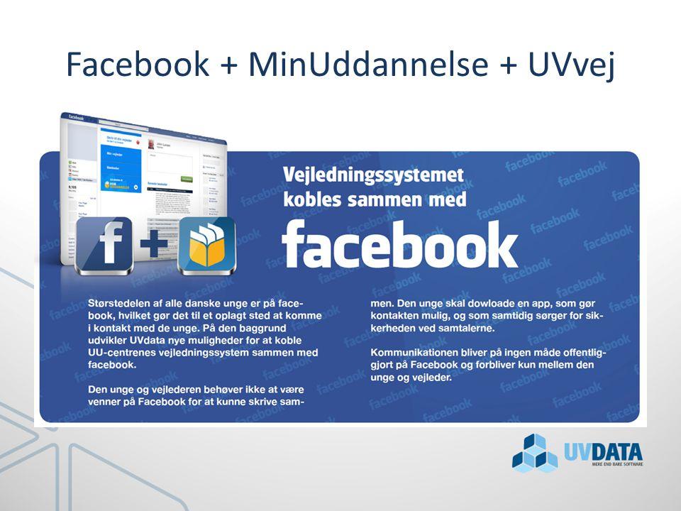 Facebook + MinUddannelse + UVvej