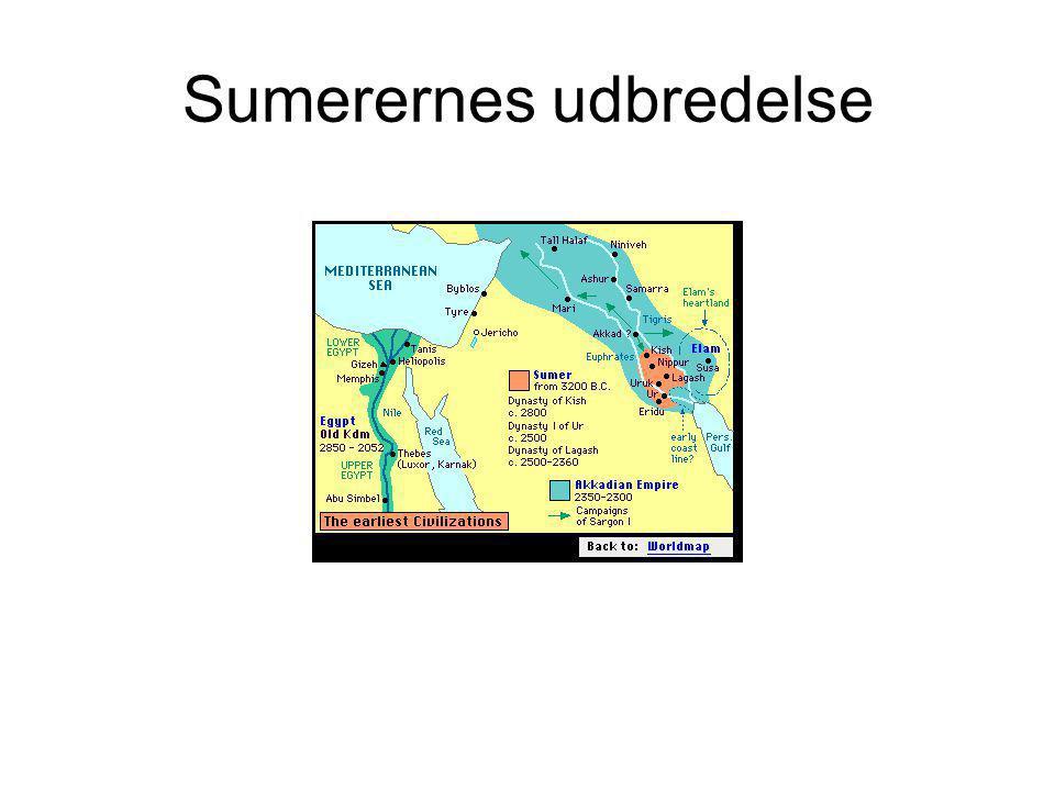 Sumerernes udbredelse