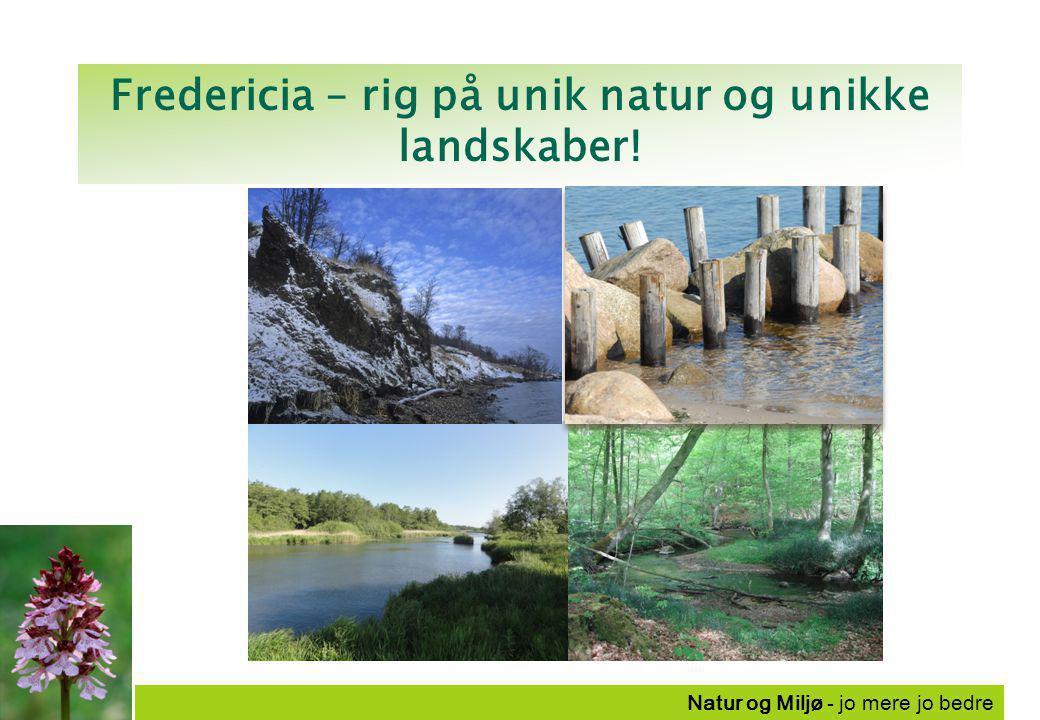 Natur og Miljø - jo mere jo bedre Fredericia – rig på unik natur og unikke landskaber!