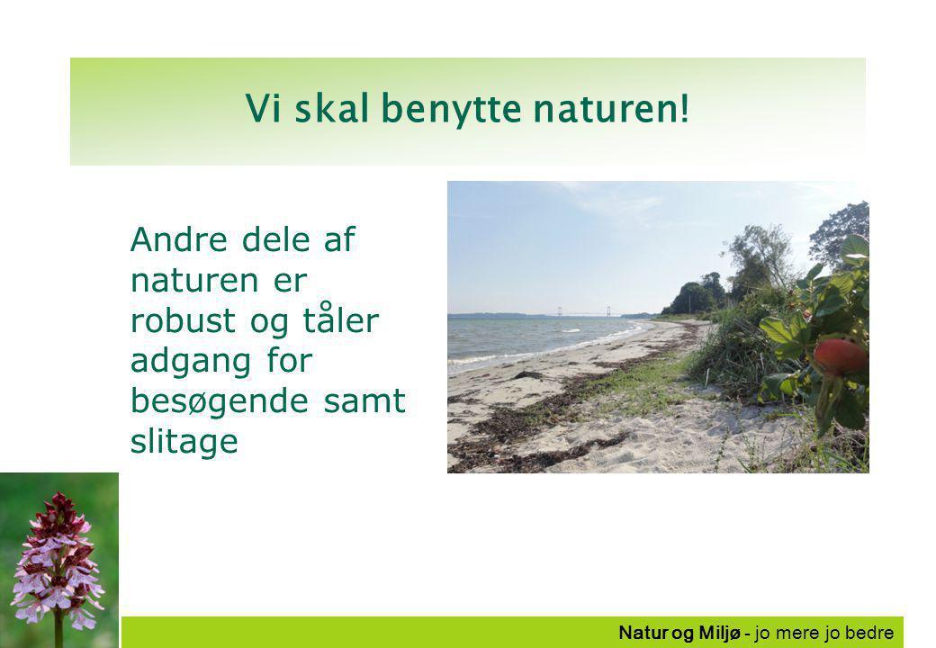 Natur og Miljø - jo mere jo bedre Vi skal benytte naturen.