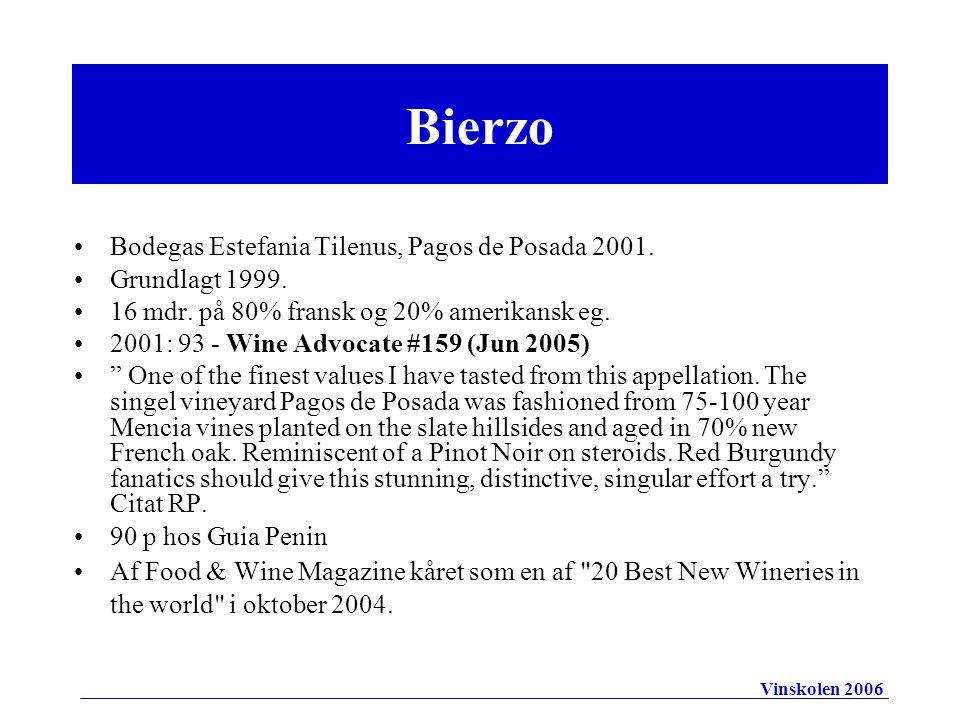 Bodegas Estefania Tilenus, Pagos de Posada 2001. Grundlagt 1999.
