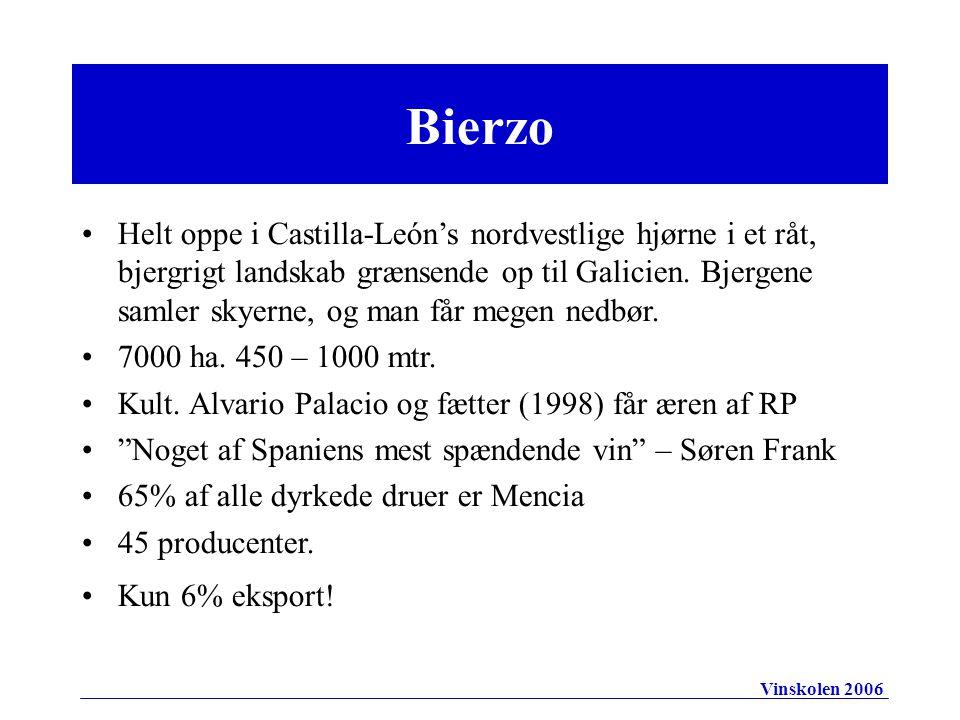 Bierzo Helt oppe i Castilla-León's nordvestlige hjørne i et råt, bjergrigt landskab grænsende op til Galicien.