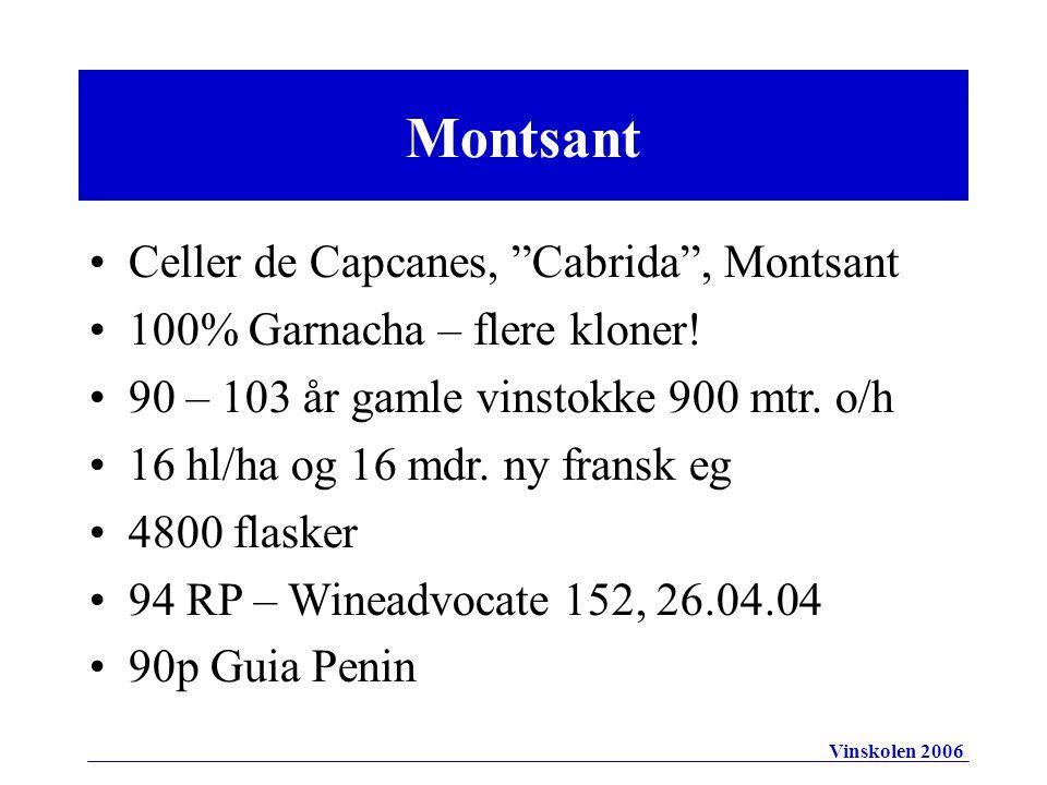 Montsant Celler de Capcanes, Cabrida , Montsant 100% Garnacha – flere kloner.