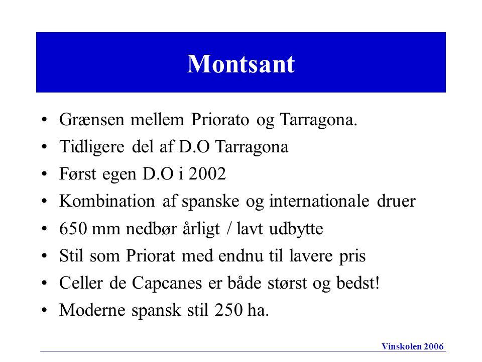 Montsant Grænsen mellem Priorato og Tarragona.