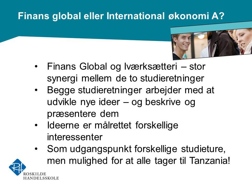 Finans global eller International økonomi A.