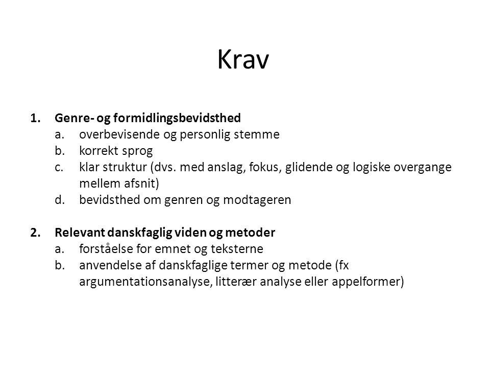 kronik dansk stil