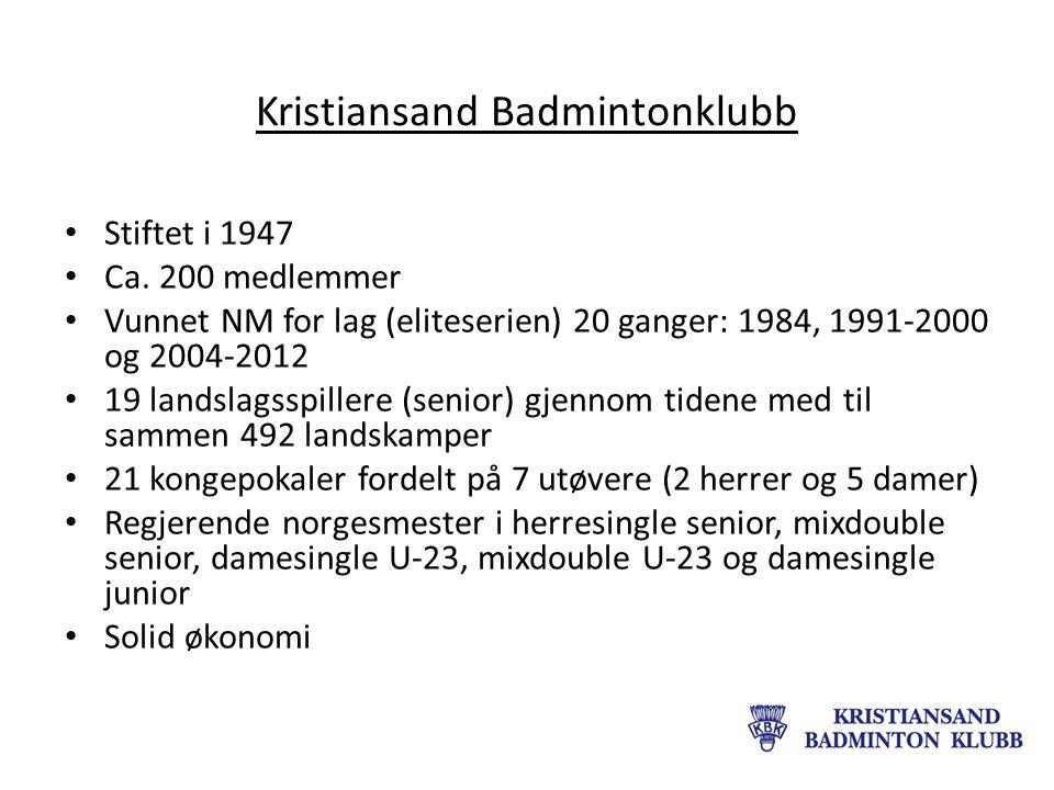 Kristiansand Badmintonklubb Stiftet i 1947 Ca.