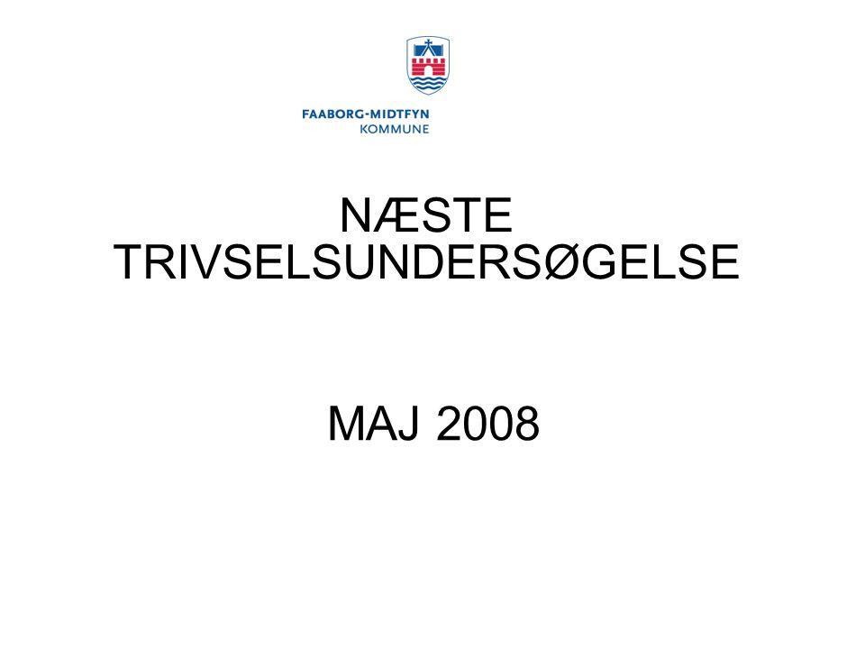 NÆSTE TRIVSELSUNDERSØGELSE MAJ 2008