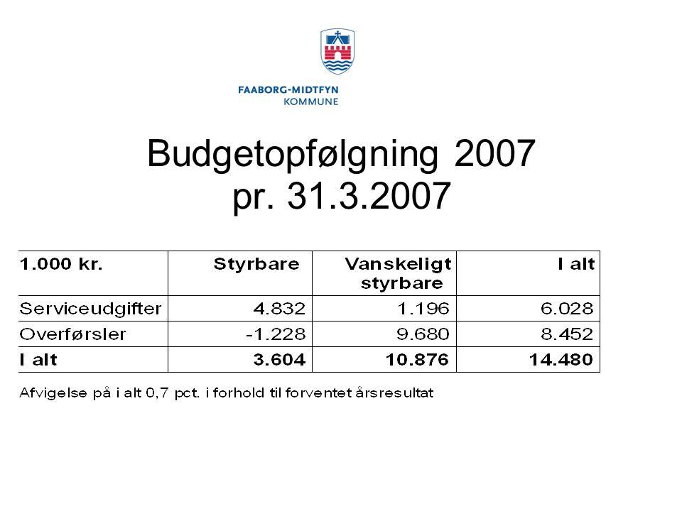 Budgetopfølgning 2007 pr. 31.3.2007