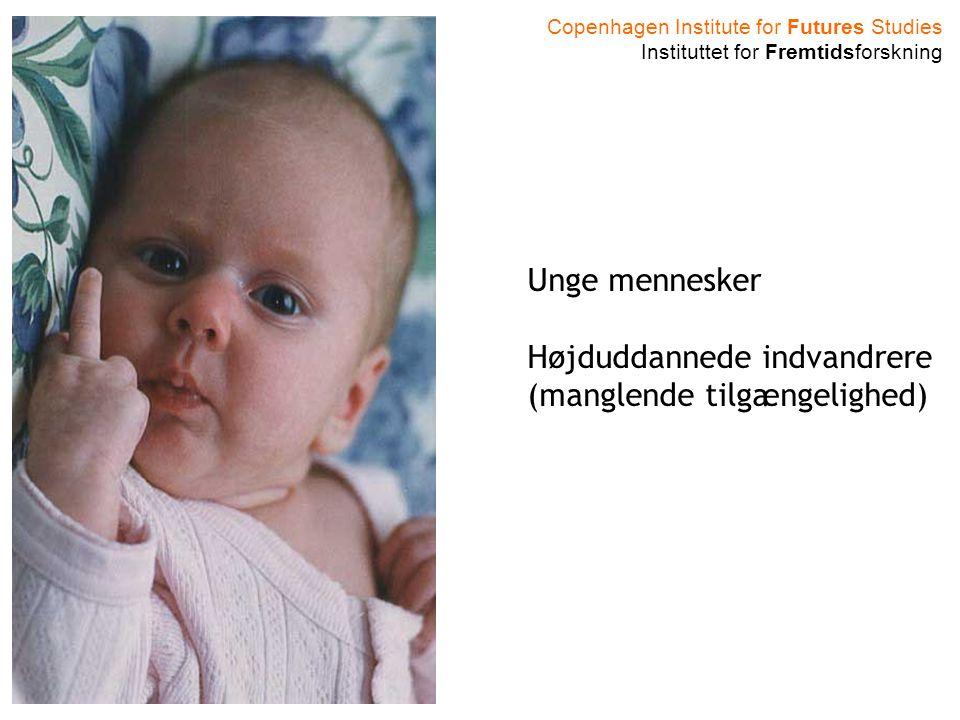 Copenhagen Institute for Futures Studies Instituttet for Fremtidsforskning Unge mennesker stiller større krav Unge mennesker Højduddannede indvandrere (manglende tilgængelighed)