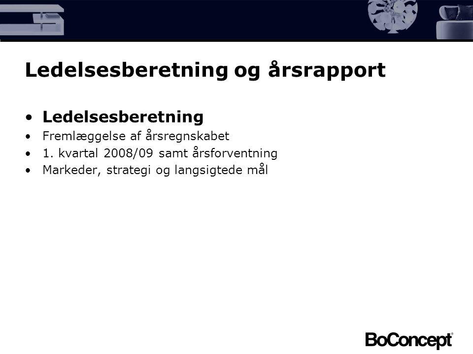 Ledelsesberetning og årsrapport Ledelsesberetning Fremlæggelse af årsregnskabet 1.