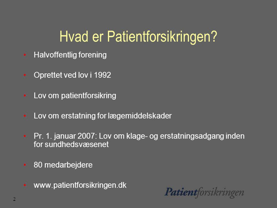 2 Hvad er Patientforsikringen.