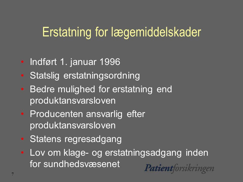 7 Erstatning for lægemiddelskader Indført 1.