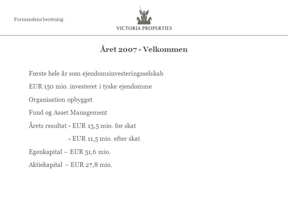 Første hele år som ejendomsinvesteringsselskab EUR 150 mio.