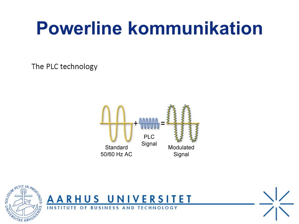 Powerline kommunikation The PLC technology