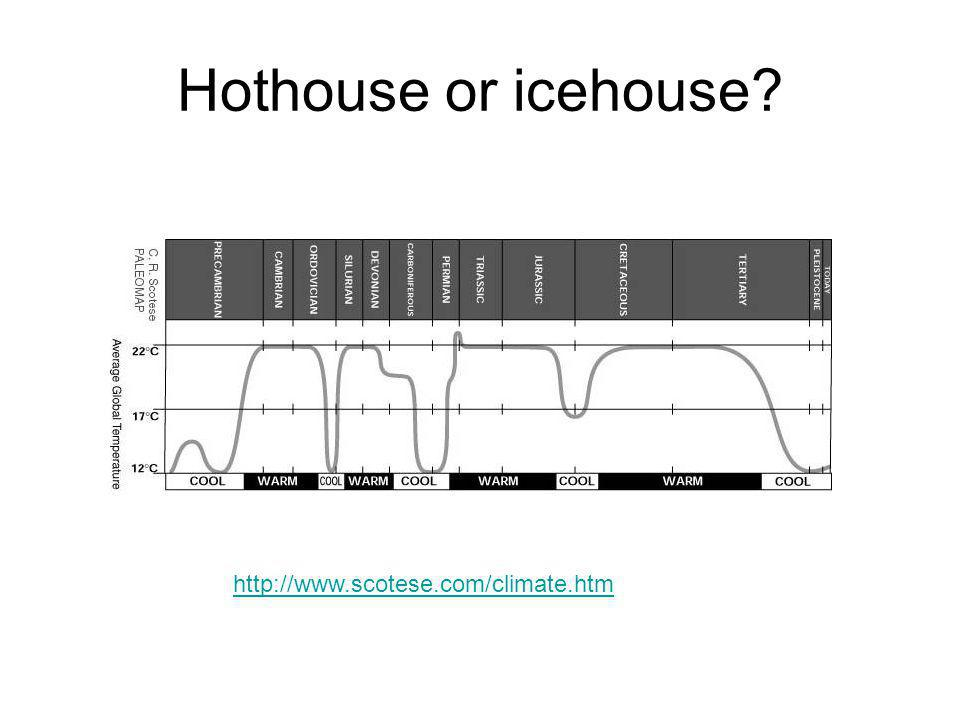 Hothouse or icehouse http://www.scotese.com/climate.htm