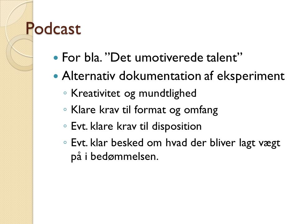 Podcast For bla.