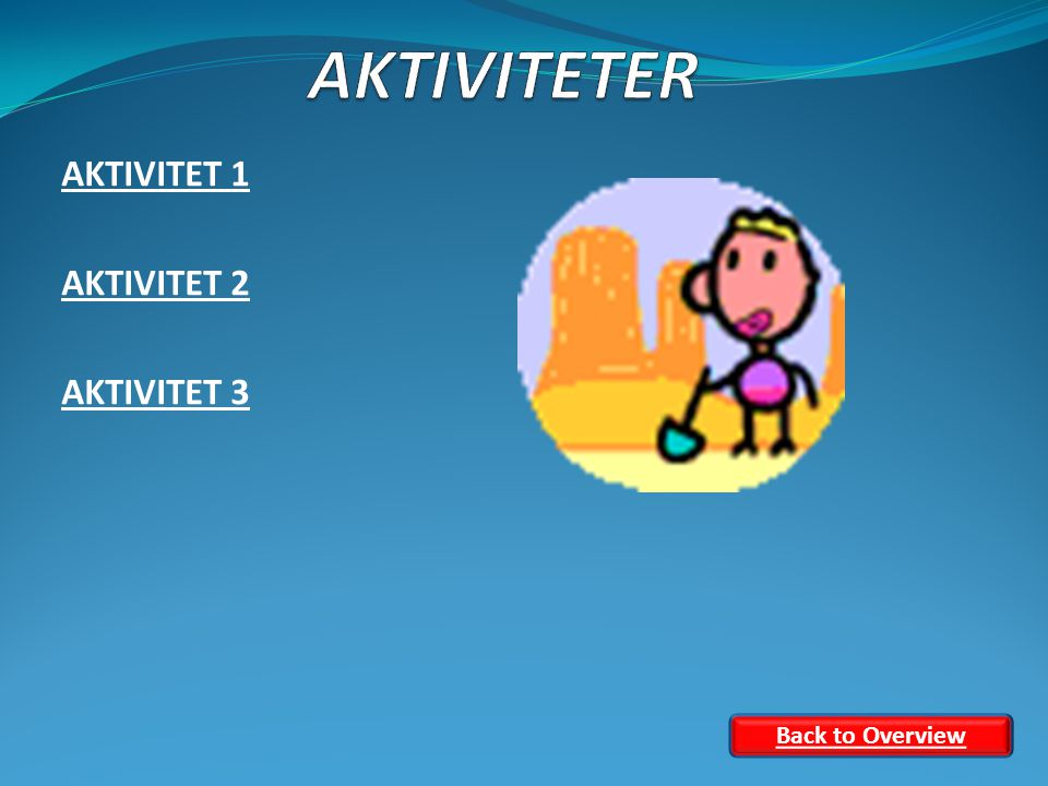 AKTIVITET 1 AKTIVITET 2 AKTIVITET 3 Back to Overview