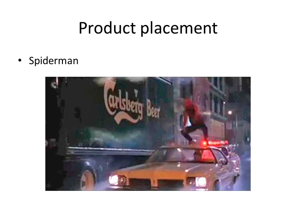 Product placement Spiderman