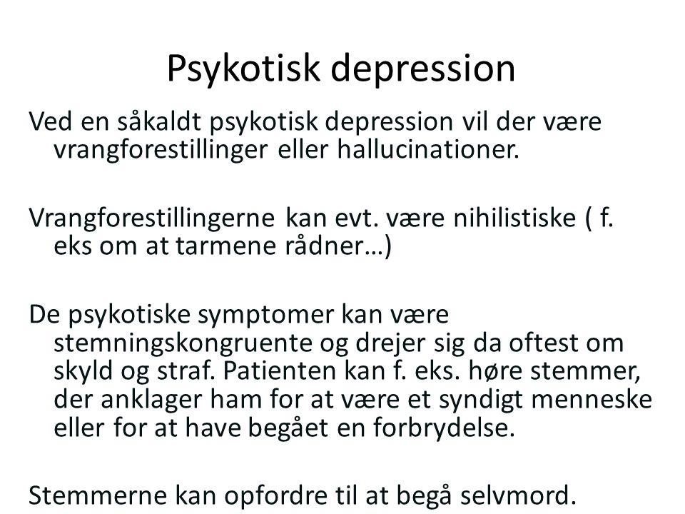 psykotisk depression symptomer