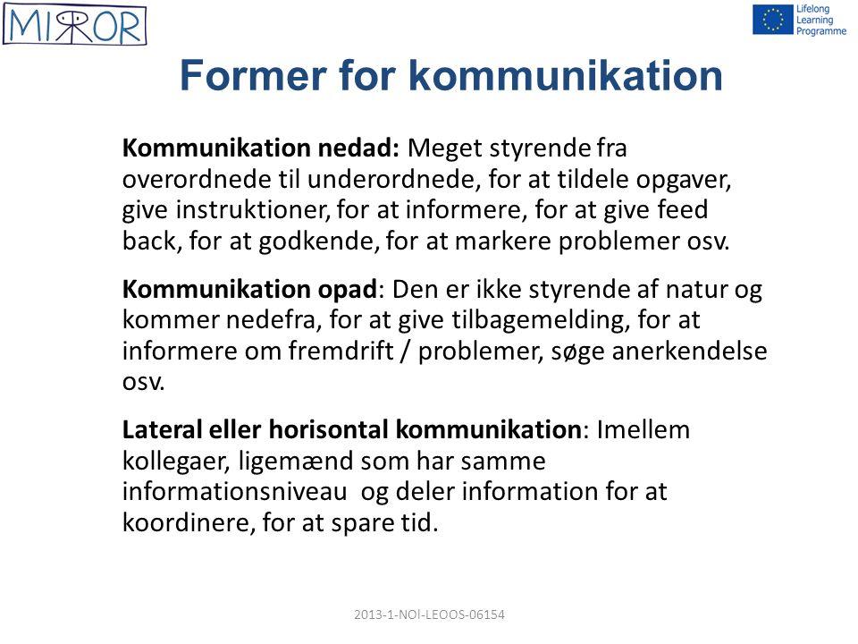 forskellige former for kommunikation