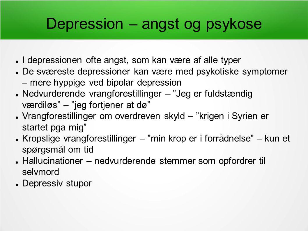 symptomer ved depression