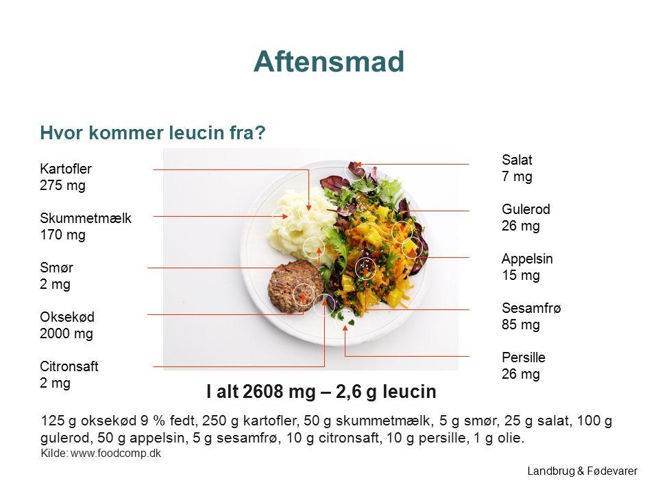 Aftensmad Hvor Kommer Protein Fra Kartofler 5 G Skummetmælk 2 G