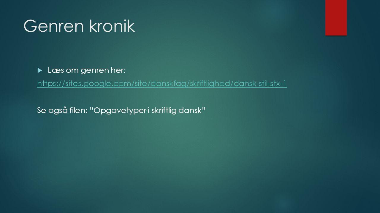 kronik eksempel dansk