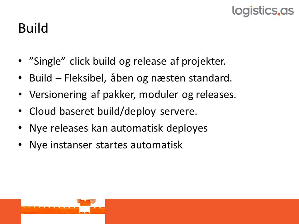 Build • Single click build og release af projekter.
