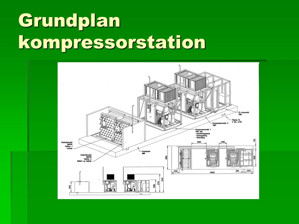 Grundplan kompressorstation