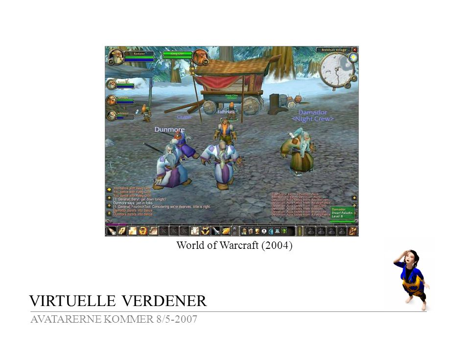 VIRTUELLE VERDENER AVATARERNE KOMMER 8/5-2007 World of Warcraft (2004)