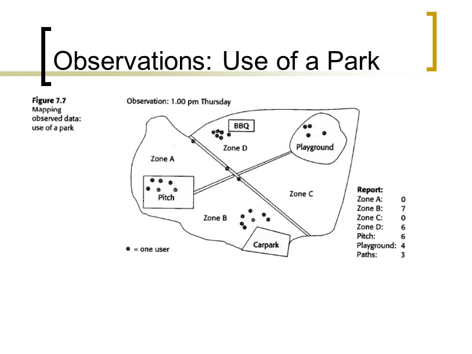 Observations: Use of a Park