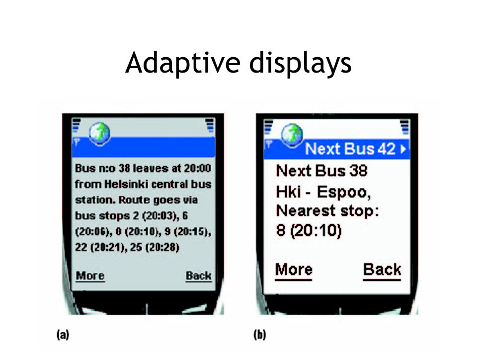 Adaptive displays