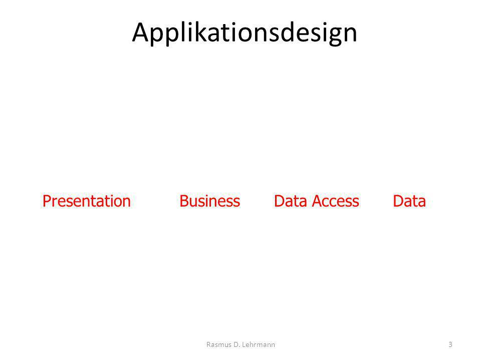 Rasmus D. Lehrmann3 BusinessPresentationData AccessData Applikationsdesign