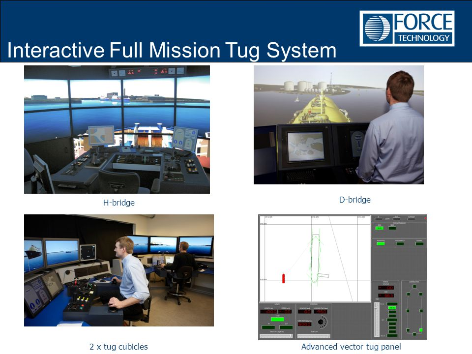 H-bridge D-bridge 2 x tug cubiclesAdvanced vector tug panel Interactive Full Mission Tug System