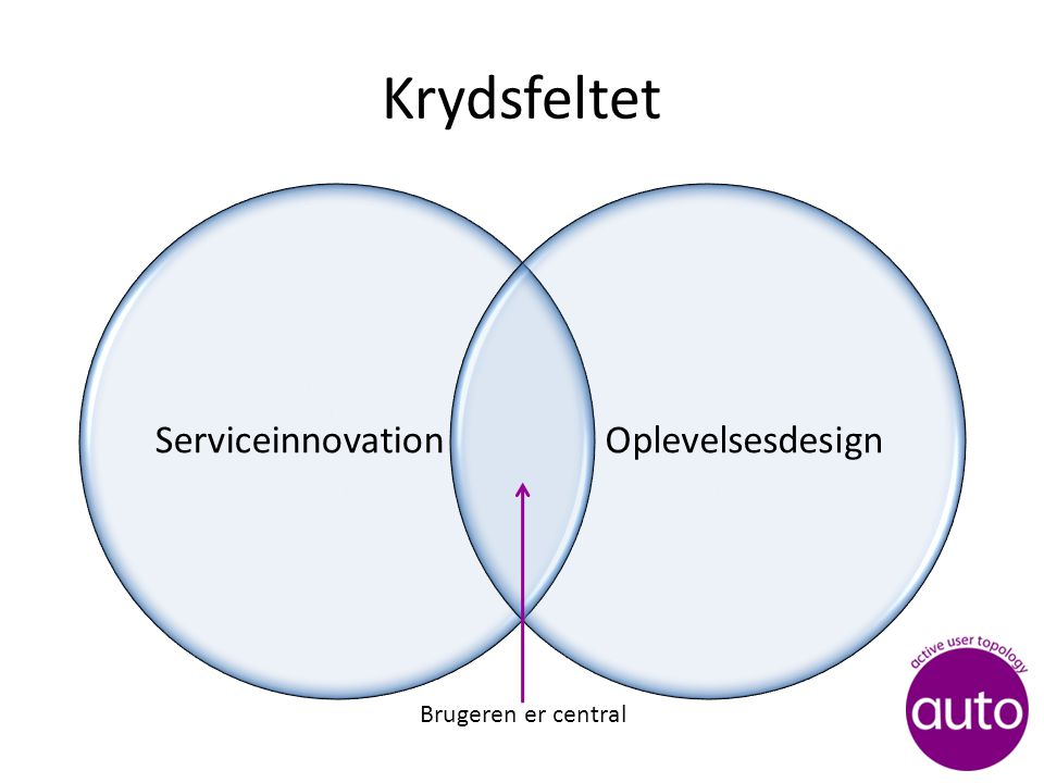 Krydsfeltet ServiceinnovationOplevelsesdesign Brugeren er central